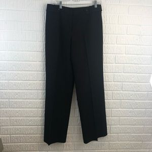 Talbots black stretch wool blend trousers